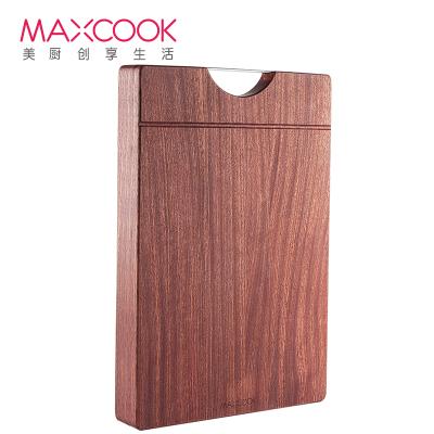 美廚(maxcook)烏檀木砧板菜板 加大加厚天然實木整木案板和面板家用切菜板 可剁骨45*30*3cm MCPJ900