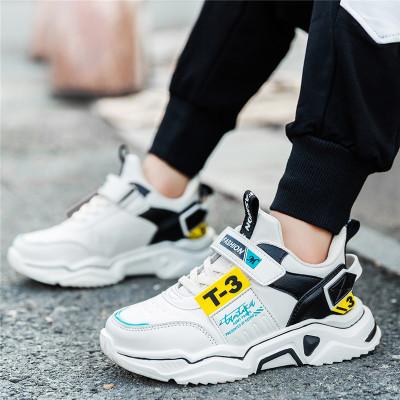 男童鞋2019冬季新款儿童运动鞋加绒防滑小孩子老爹鞋中大童跑步鞋学生休闲鞋韩版女童鞋子儿童小白鞋