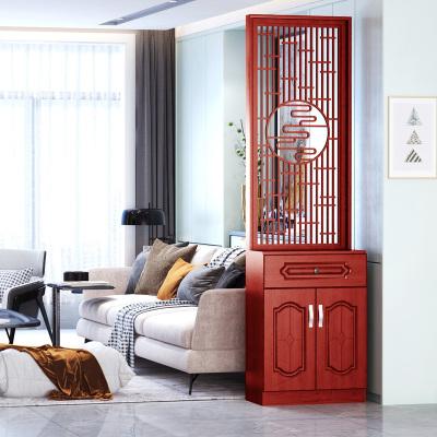 中式屏風隔斷客廳簡約現代進酒柜鞋柜一體法耐靠墻廳裝飾玄關柜子