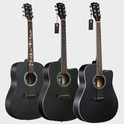 民謠吉他炎初學者學生成人新手入38寸41寸男女生樂器 41清倉黑色+配件+調音器 41英寸
