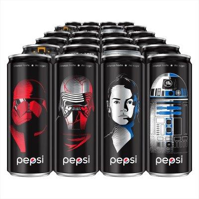 百事可乐 无糖可乐型汽水330ml*24罐 塑包 整箱装 星战罐(新老包装、纸箱/塑包随机发货)