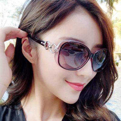 时尚太阳镜女士2018高档玉晶质感9509太阳眼镜渐变墨镜蛤蟆镜