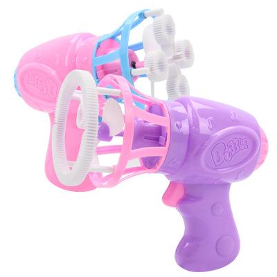泡泡机儿童大泡泡手套电动风扇泡泡枪自动吹泡泡水玩具 颜色随机