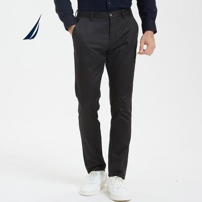 诺帝卡/NAUTICA秋冬新品厚款男士商务休闲西装直筒长裤