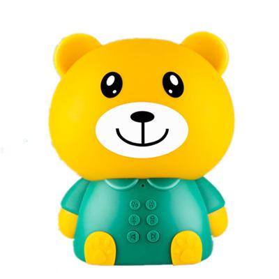 幼教故事機兒童翻譯早教機器人語言對話AI教育學習翻譯玩具故事機黃色迪程