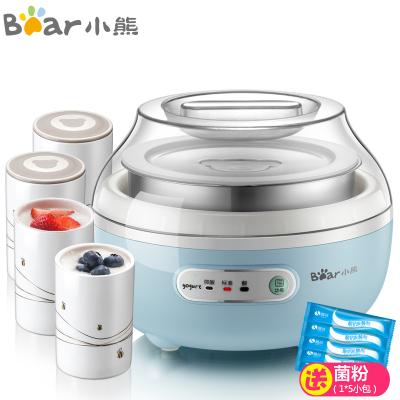 小熊(Bear)酸奶機家用全自動多功能陶瓷4分杯內膽智能版三種酸度發酵機1L不銹鋼內膽藍色SNJ-C10H1
