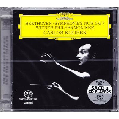 進口CD 貝多芬 第五命運/第七交響曲 克萊伯 SACD碟 發燒古典音樂