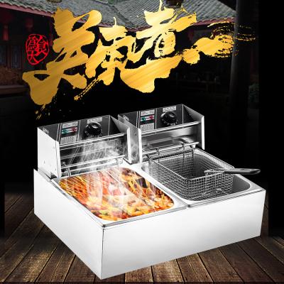 關東煮機器商用雙缸煮面爐麻辣燙電炸爐油炸鍋黃金蛋關東煮鍋魚蛋串串香