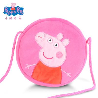 小豬佩奇Peppa Pig毛絨玩具佩佩圓形錢包 16cm