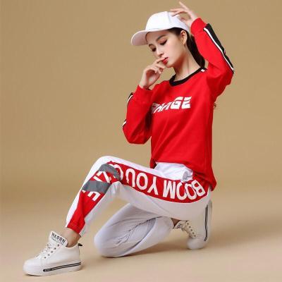 2019秋冬寬松嘻哈鬼步舞曳步舞運動服健身跳舞衣服團體表演舞蹈服