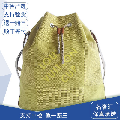 【正品二手9成新】路易威登(LV)檸檬黃 帆船 限量款 單肩包 織物