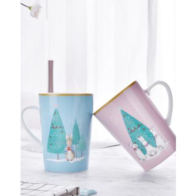 比得兔(Peter Rabbit)圣诞系列情侣陶瓷对杯马克杯早餐杯牛奶杯咖啡杯杯子