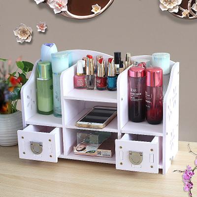 化妝品收納盒梳妝盒桌面整理儲物架首飾盒浴室護膚品置物架