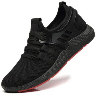珀爾梵 Boerfan春夏新款潮流鞋子男休閑鞋男士低幫鞋黑色青年百搭跑步鞋透氣學生鞋