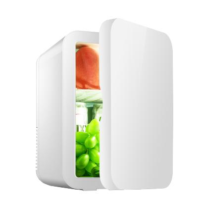 先科(SAST)8L電子冰箱 車載冷暖箱 迷你 禮品冰箱 化妝品母乳牛奶冷藏 半導體制冷 家車倆用 環保材質 靜謐藍