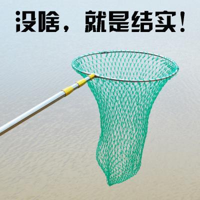 抄大魚不銹鋼抄網桿結實撈魚網釣魚漁具用品折疊鋼圈網兜同款