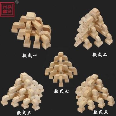 東陽木雕中式仿古裝修實木斗拱建工程實木七踩平身科角拱