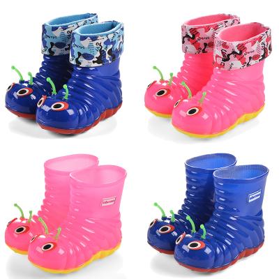 四季可愛卡通小孩寶寶幼兒園小童中大童雨鞋男童女童防滑加絨冬
