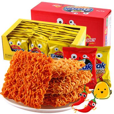 印尼进口GEMEZ小鸡干脆面烤鸡味30g*24袋720g即食面怀旧儿童零食