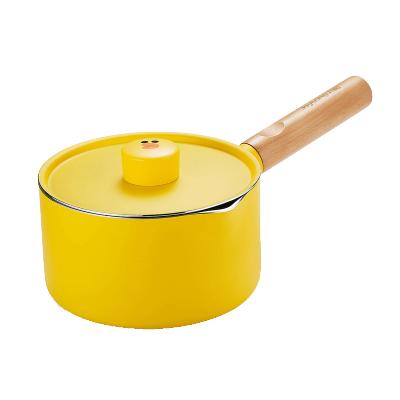 九陽(Joyoung)TLL1622D-A2湯奶鍋16cm寶寶輔食鍋不粘鍋煮泡面鍋湯鍋布朗熊小奶鍋