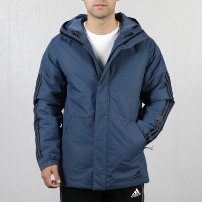 Adidas阿迪達斯男裝20冬新款棉服休閑保暖棉衣運動連帽外套DZ1428