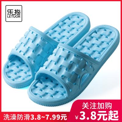 樂拖浴室拖鞋女夏季室內情侶軟底家居家用洗澡防滑漏水涼拖鞋男士
