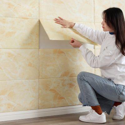 墻紙自粘3d立體墻貼臥室客廳軟包時光舊巷背景墻壁紙墻裙防水泡沫裝飾貼紙