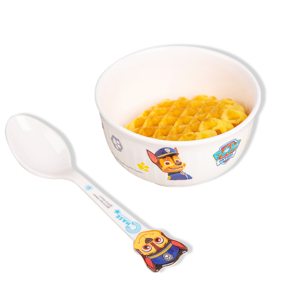汪汪隊立大功(PAW PATROL)兒童餐具卡通碗密胺耐磨防摔單耳雙耳雙色卡通碗寶寶可愛各樣式卡通碗 兒童直紋碗