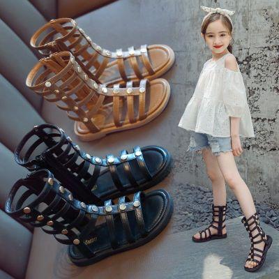 2020新款女童涼鞋時尚兒童夏季小女孩寶寶韓版羅馬鞋小童公主鞋子