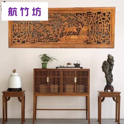 东阳木雕挂屏香樟木镂空雕家和万事兴挂件客厅风水装饰品壁挂牌匾