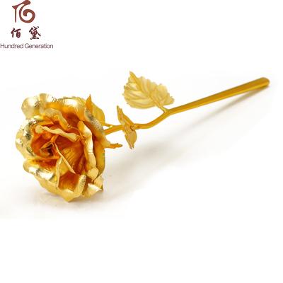 佰黛(Hundred Generation) 金玫瑰花 金箔玫瑰花金玫瑰浪漫生日情人节礼物送女友老婆 爱她就送她玫瑰花