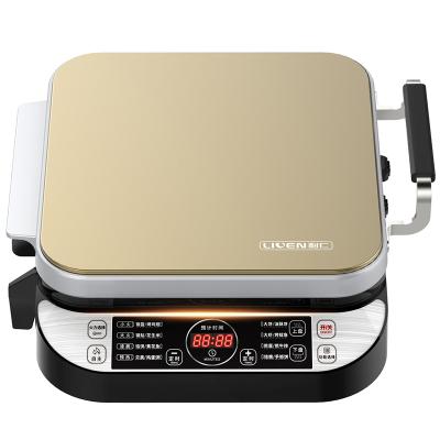 利仁(Liven)LR-FD431电饼铛智能微电脑式煎烤机侧开时代双盘可拆洗家用牛排机不粘涂层