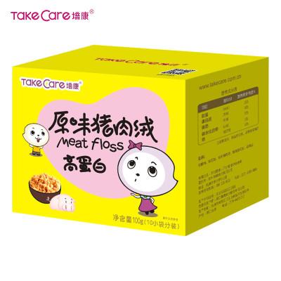 培康(TakeCare)儿童零食 原味猪肉绒猪类肉粉松100g盒装(10小袋分装) 国产