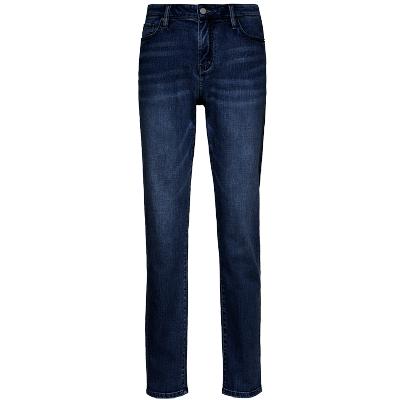 碼尚定制MatchU彈力舒適牛仔褲 購買后會收到短信鏈接在線量體 2020春秋季新款直筒水洗休閑長褲 深藍色