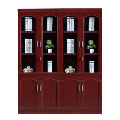 歐施洛 書柜組合書柜辦公書柜玻璃書柜現代簡約書柜書櫥多功能書柜帶鎖書柜 辦公室書柜兩色書柜SN-77