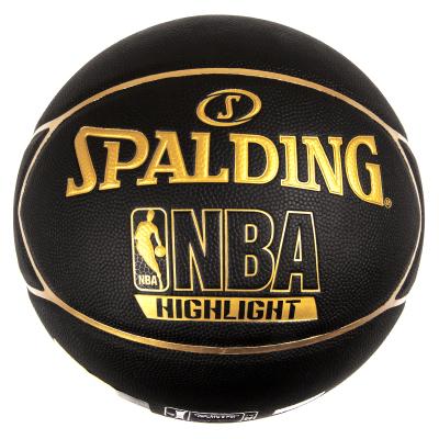 斯伯丁SPALDING籃球室內室外通用籃球74-634Y七號籃球 星型表皮 復合材料耐磨防滑 PU材質金色
