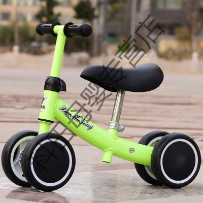 儿童平衡车1-3岁2宝宝滑行车溜溜车婴儿学步车玩具扭扭车生日应学乐 绿色+升级款(普通座椅)