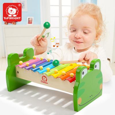 特寶兒(topbright)青蛙手敲琴 嬰幼兒樂器 荷木 椴木 8個月以上寶寶兒童玩具男孩女孩音樂玩具 7136