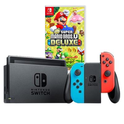 【游戲套餐】任天堂 Nintendo Switch 國行續航加強版紅藍主機 & 游戲兌換卡 新 超級馬力歐兄弟U 豪華