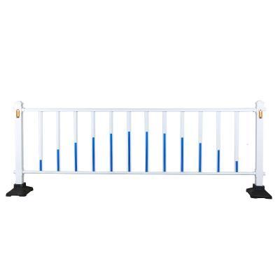 道路护栏隔离栏市政户外公路马路交通栅栏栏杆防护栏铁艺锌钢围栏 市政1米高50元一米