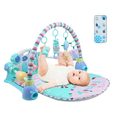 貝恩施嬰幼兒玩具0-1歲 寶寶玩具 加厚腳踏鋼琴健身架 腳踏琴