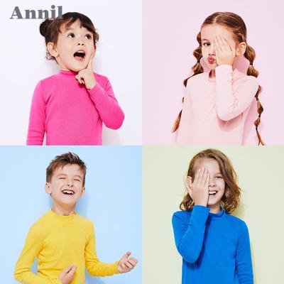 安奈儿童装女童打底衫长袖冬款男童T恤保暖内搭衫AM1900