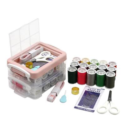 家用針線盒套裝工具箱多功能針線包縫紉線手縫針迷你收納整理盒巧媽媽