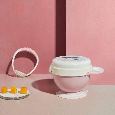 babycare 嬰兒研磨碗輔食工具寶寶輔食碗研磨器棒兒童餐具套裝珀爾里粉