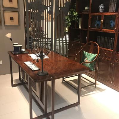 新款家具實木書桌現代禪意寫字臺水曲柳電腦桌簡約辦公桌書法桌家具 書桌 否