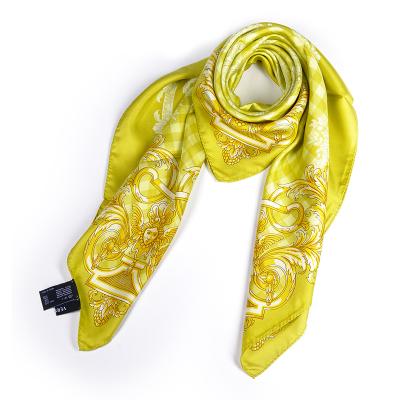 范思哲 (Versace)歐美時尚印花多功能四季通用款女士真絲絲巾圍巾 香港直郵冬季