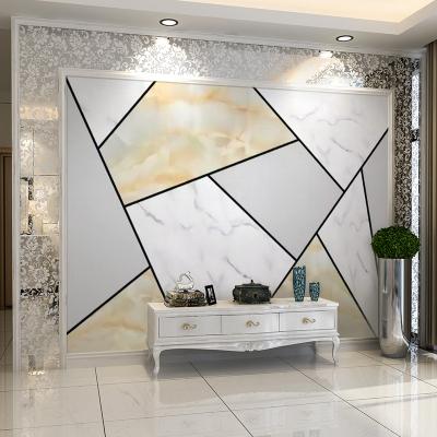 5d北歐閃電客電視背景墻壁紙自粘墻貼3d立體影視墻紙客廳8d幾何裝飾貼畫 D款 超大