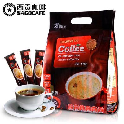 越南西贡进口速溶咖啡 原味840g(56杯)袋装 Sagocoffee三合一经典原味香浓好喝