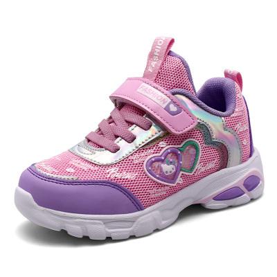 酷嘎(COGA)秋季公主鞋女中大童鞋子2020新款網布運動鞋6時尚7兒童跑步8小女孩9單鞋10中大童運動鞋11歲