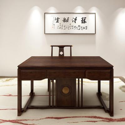 好風景家居新中式書桌33E9001烏金木書房組合